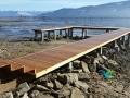 Sandpoint Idaho custom cedar dock rebuild. Fixed pier, on Lake Pend Oreille in Sandpoint Idaho.