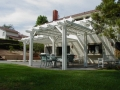 backyard concrete patio and patio cover