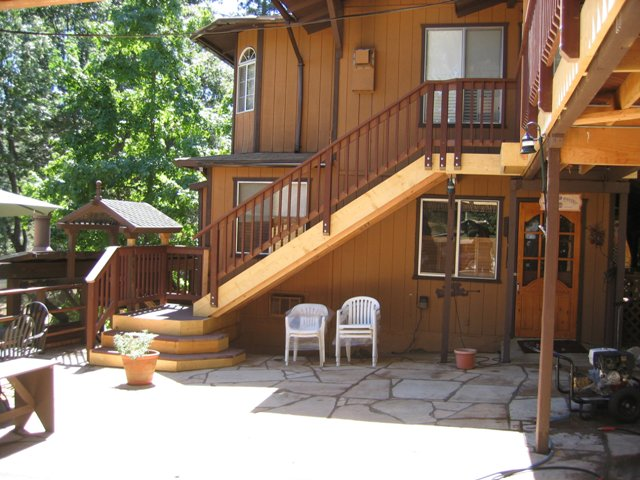 Custom tile stone masonry valhalla construction llc for Second story decks with stairs