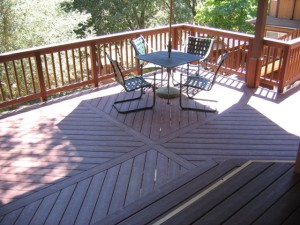 Custom built TREX Deck
