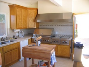 Outdoor kitchen and bar gazebo