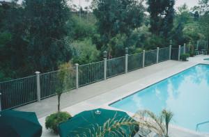 Poolside TREX deck