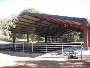 Steel building services - covered and enclosed riding arenas