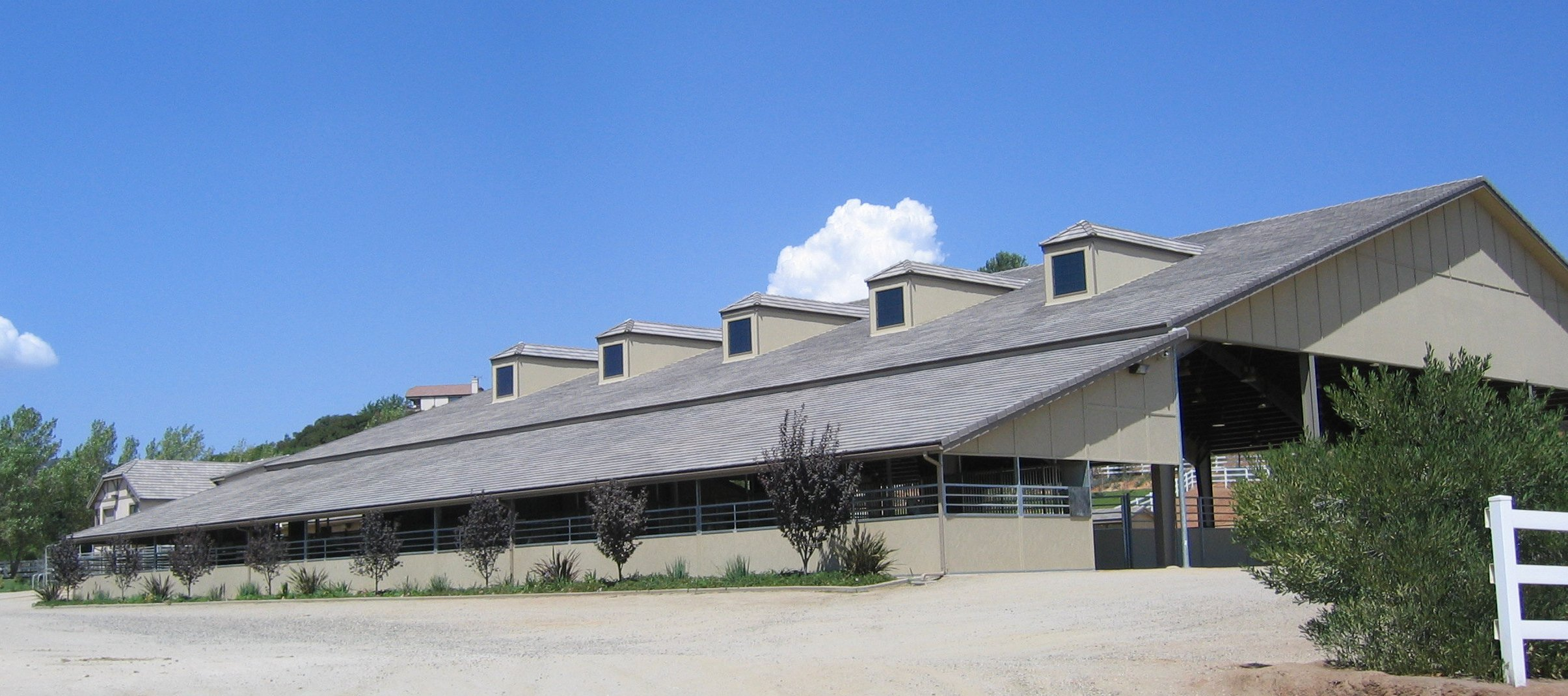 Steel building services - covered riding arenas