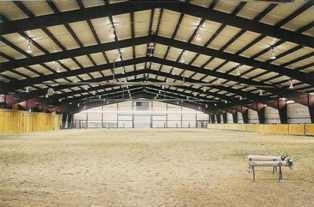 Enclosed riding arena