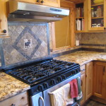 Tile and stone services by VC LLC - Tumbled Marble and Slate Stone Tile Backsplash