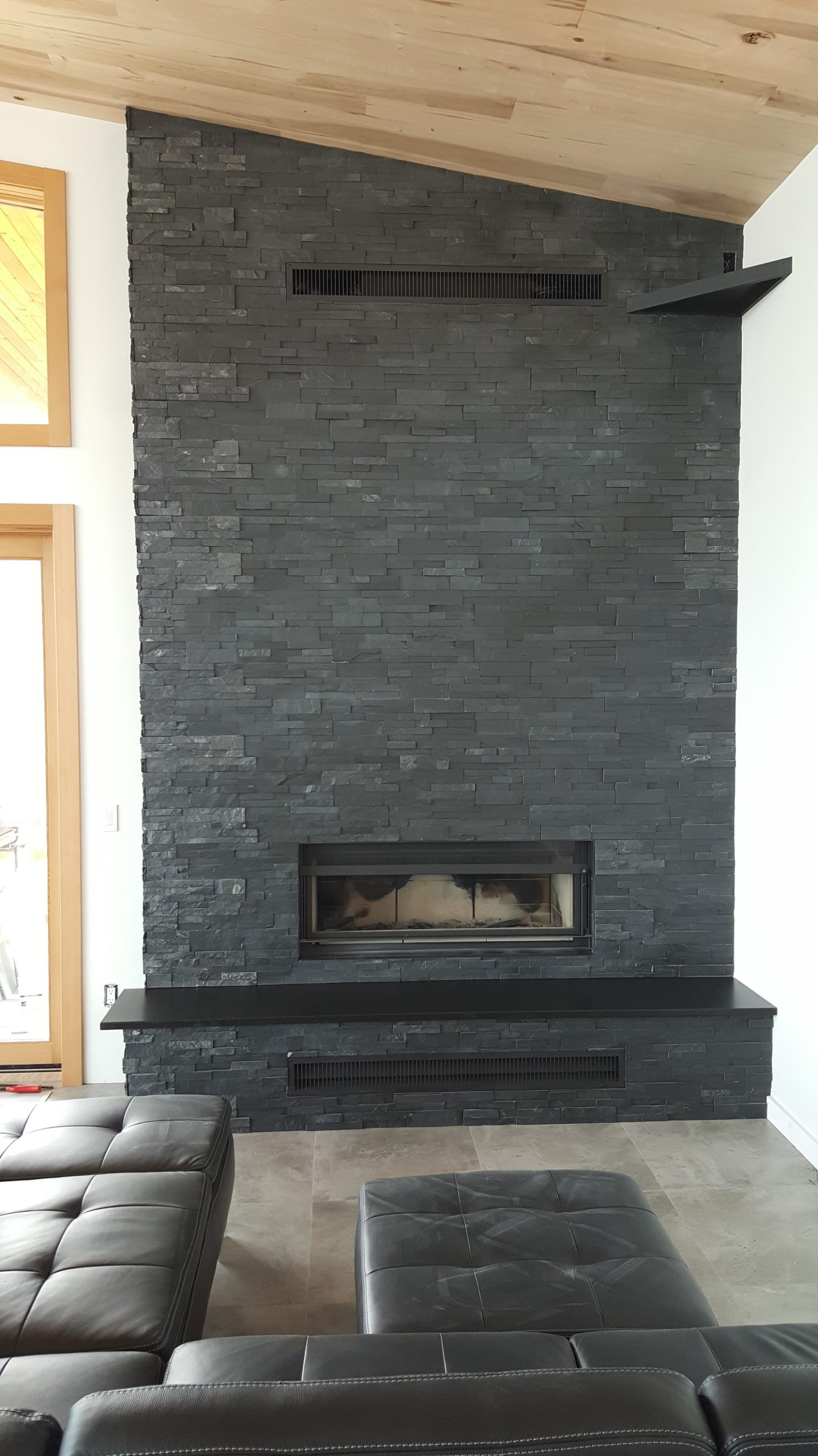 Custom home fireplace
