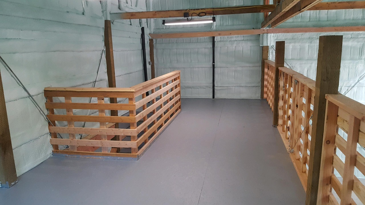 Mezzanine in custom shop